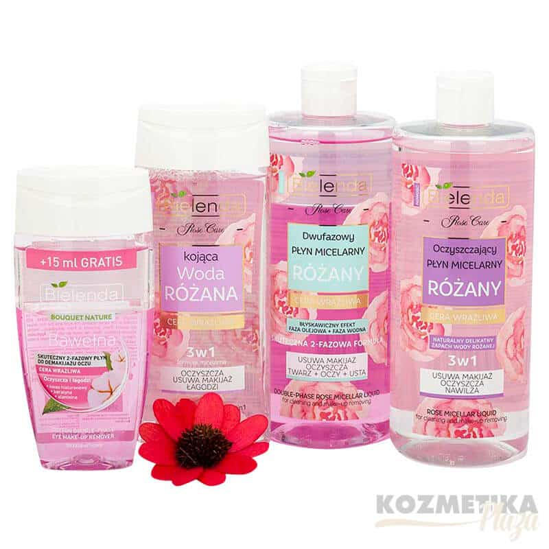 Bielenda Kétfázisú Szemfesték Lemosó Folyadék 125 ml/Rose Care Nyugtató Rózsavíz 3-in1 200 ml/Bielenda Rose Care Micellás Rózsavíz 3in1 500 ml/Bielenda Rose Care Micellás Rózsavíz 500 ml