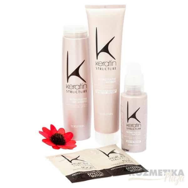 Csomag Ár! Young Keratin Structure Hajújraépítő Sampon 250 ml +Keratin Hajpakolás/Maszk 175 ml+Keratin Fluid 100 ml+Botox