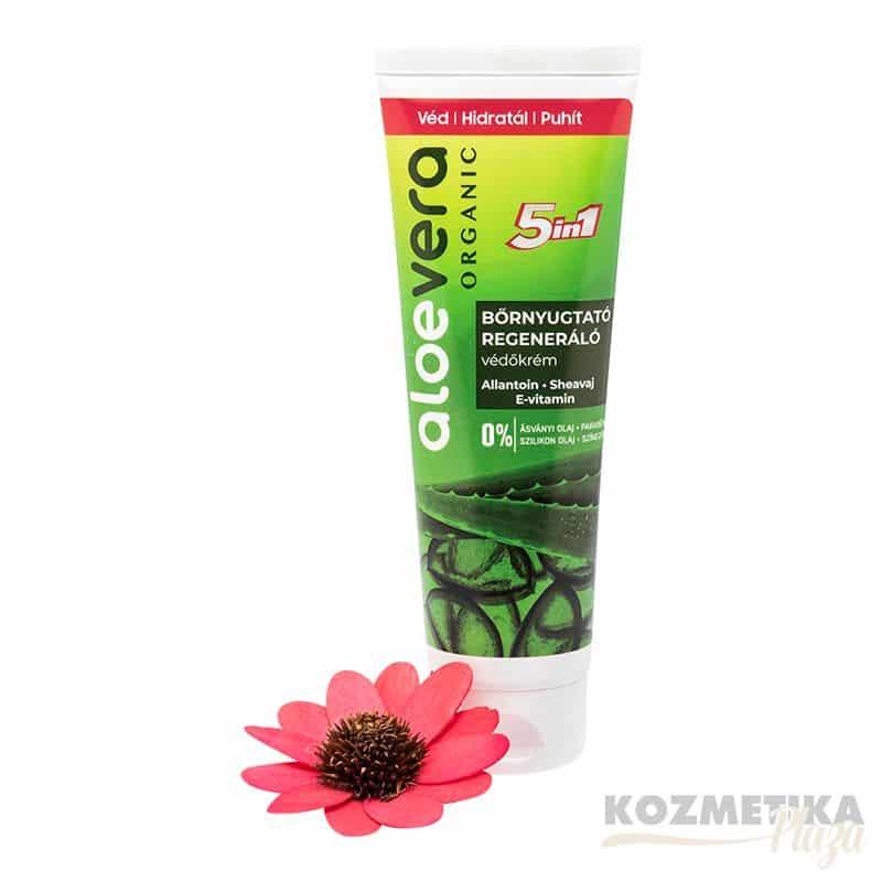Aloe Vera Organic Regeneráló/Bőrnyugtató Védőkrém E-Vitaminnal 100 ml